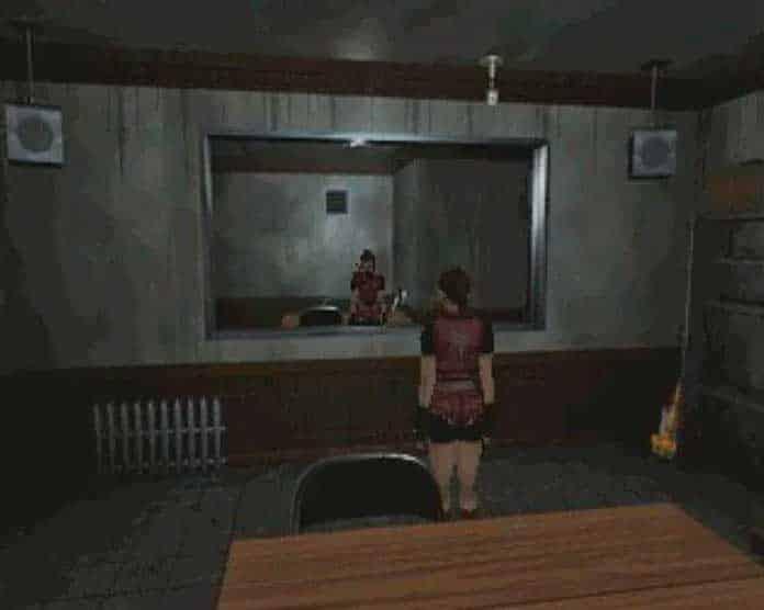 Claire na Frente do Espelho em Resident Evil 2