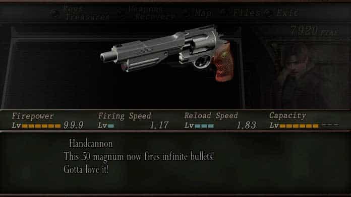 Handcannon de Resident Evil 4